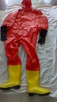 Light Siamese chemical suits acid chemical ammonia gas chemical warfare suits,harmful gas rescue clothing.