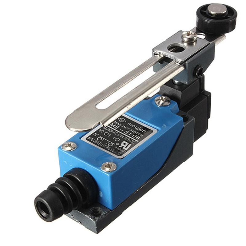 New Arrival Waterproof ME-8108 Momentary 10A 380V AC Roller Arm Type Limit Switch For CNC Mill Laser Plasma Favorable Price professional electrical switches dustproof rotary roller lever limit switch overtravel limit for cnc mill laser plasma me 8108