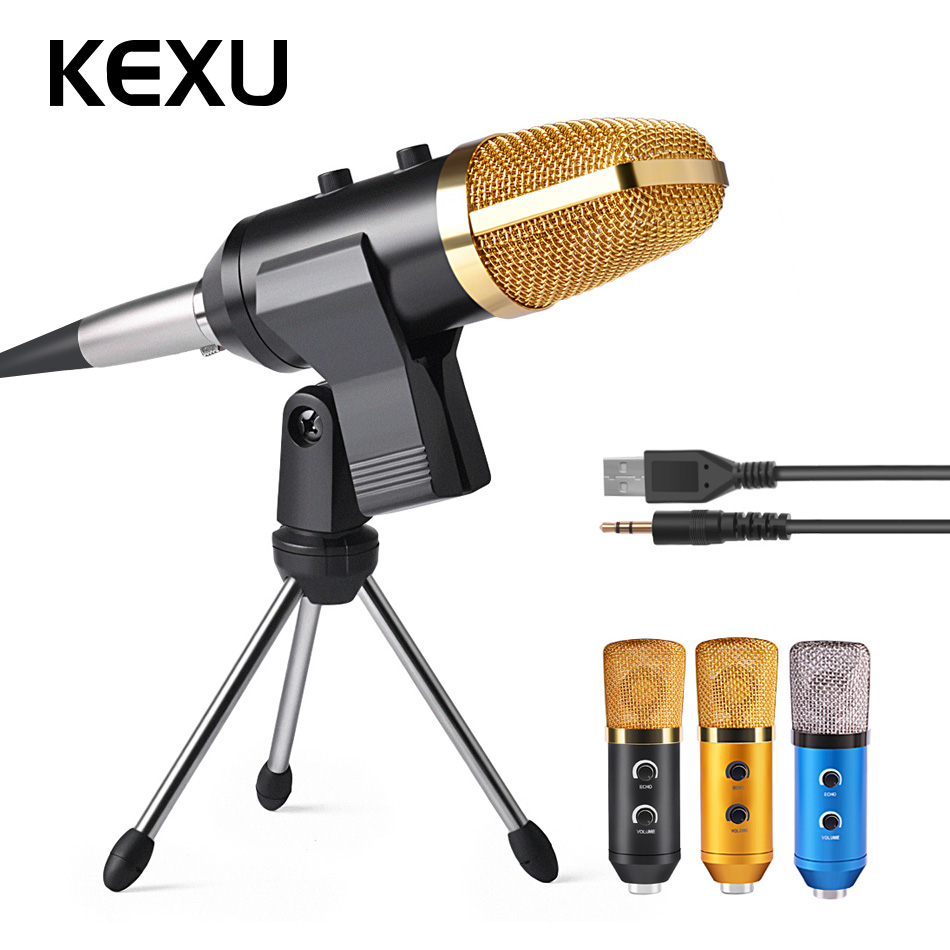 ML-F100TL USB Condenser Microphone Professional Microphone for Video Recording Karaoke Radio Studio Microphone for Computer PC