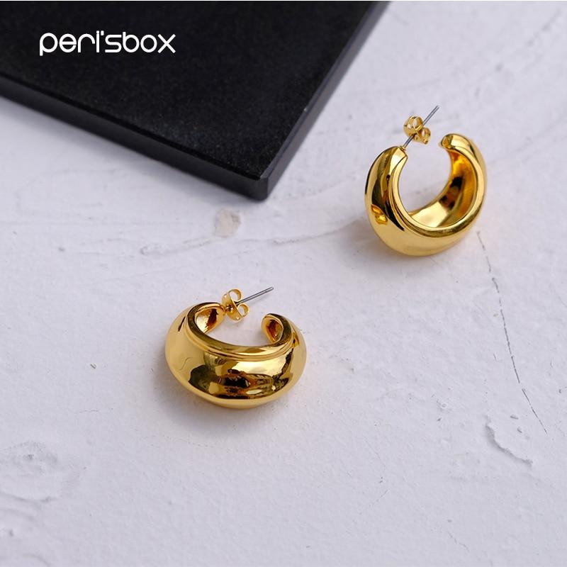 Ohrringe Creolen Perisbox Chic Gold Farbe Kleine Öffnen Hoop Ohrringe Für Frauen Erklärung Geometrische Ohrringe Minimalistischen Metall Messing Ohrringe 2019 RegelmäßIges TeegeträNk Verbessert Ihre Gesundheit