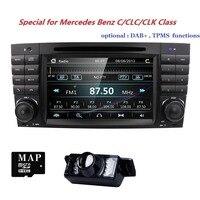 Hizpo Car Multimedia Player GPS 2 Din DVD Automotivo For Mercedes/Benz/C class/W209/CLK320/CLK500 Radio 3G Radio USB Navigation