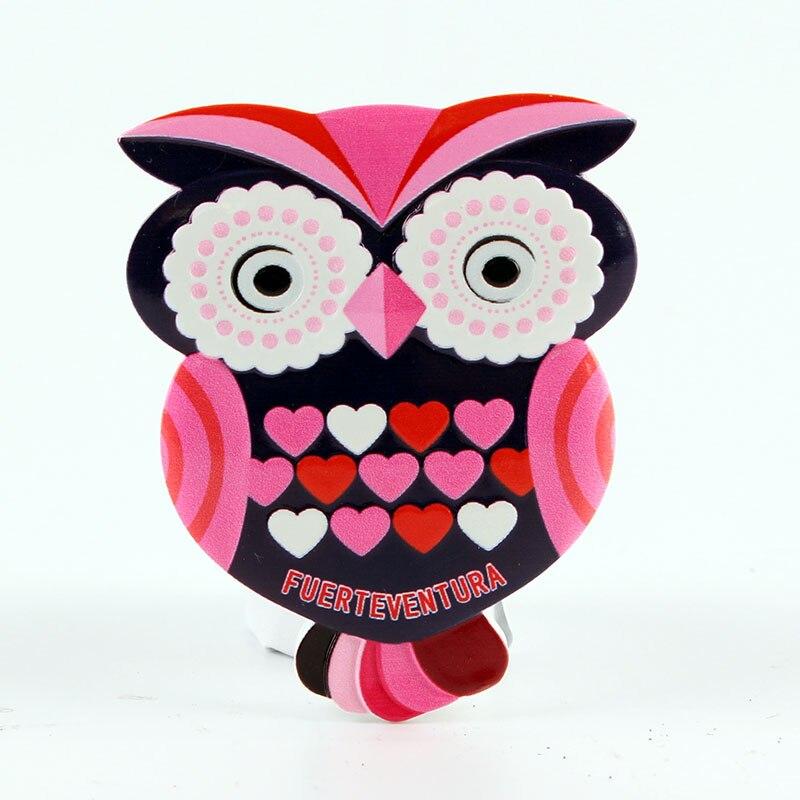 Fridge Magnet  Fuerteventura Spain  Owl Design