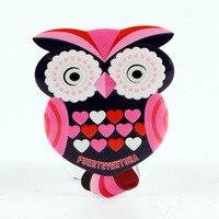 Ímã de geladeira fuerteventura espanha design de coruja|owl design|owl fridge magnets|owl magnets -