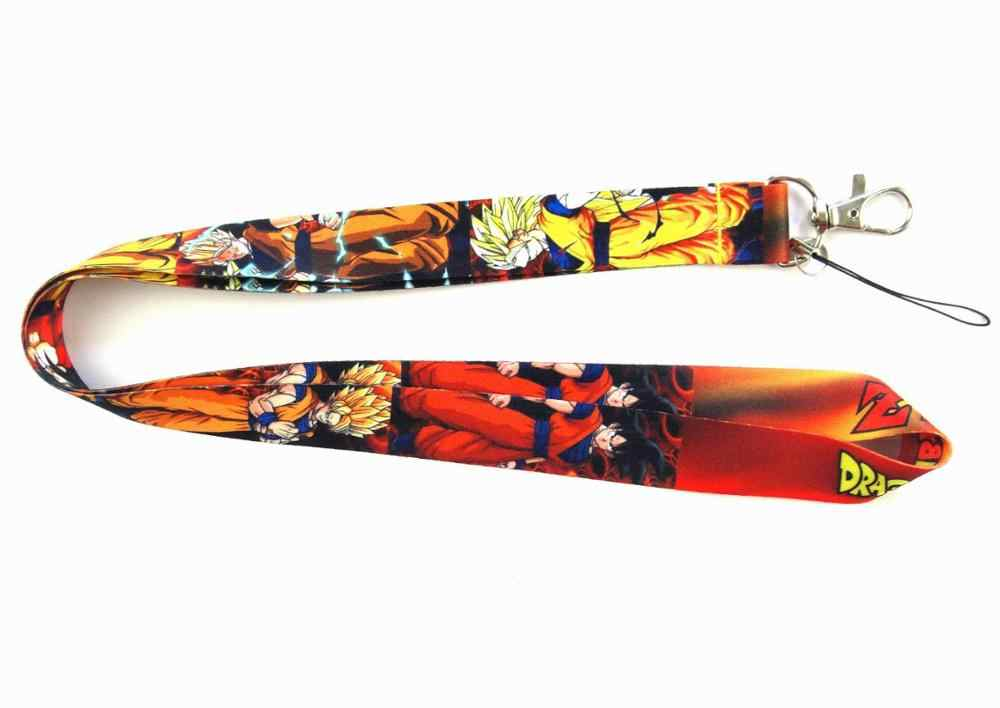 Neue 1pc Dragon Ball Anime Action-figuren Cartoon Super Saiyan Goku Lanyard Schlüssel ID Handy Neck Strap sammlung Spielzeug Geschenk