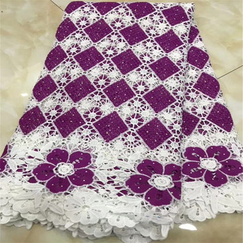 Cassiel Latest African Lace 2019 Cord Lace Fabric With Stones Embroidery Fashion Guipure Cord Lace Fabric In Nigerian Lace