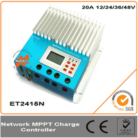 20A 12 24 36 48V ETracer MPPT Solar Charge Controller With Multifunction LCD Display System Easy