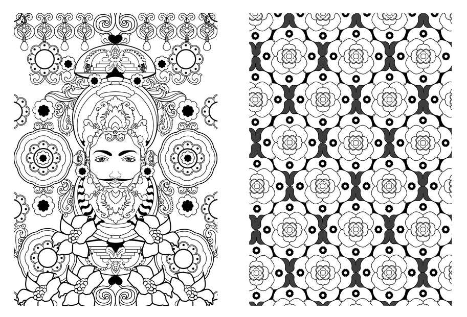 coloring books for adults : Art therapie Mandala, 100 coloriages ...
