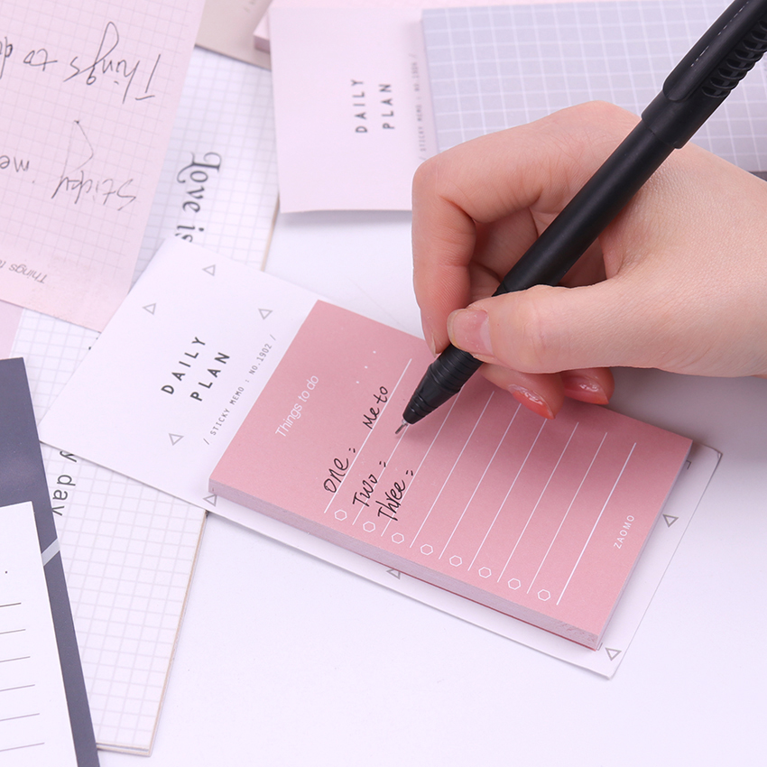 1PC 50 Sheets To Do List Check List Sticky Notes Memo Pad Notepad School Office Supplies Stationery