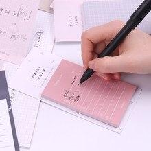 1PC 50 Folhas para Fazer a Lista Lista de Verificação Sticky Notes Pad Memo Notepad Escola Escritório Produtos de Papelaria