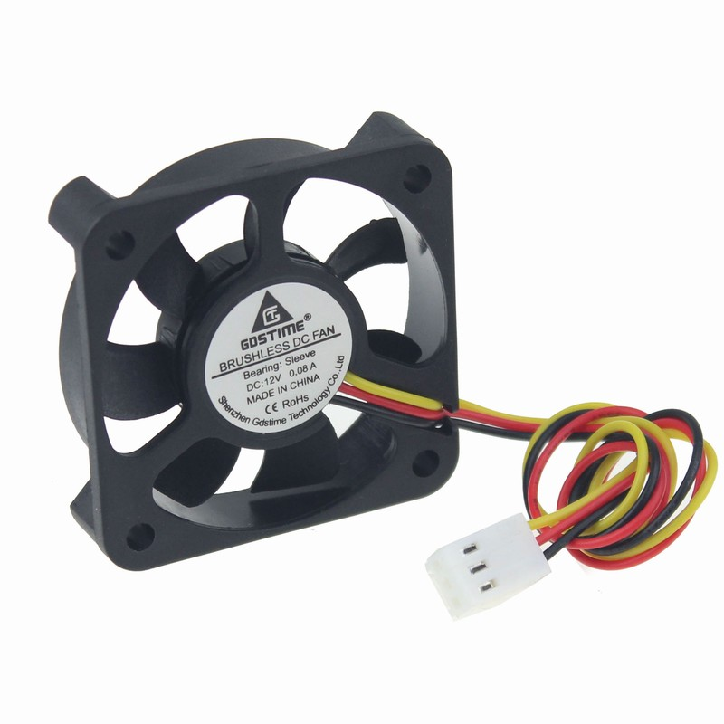 1 Piece DC 12V 3Pin PC Computer CPU Cooler Cooling Fan Fans 50mm 50x10mm 5cm computer cooling