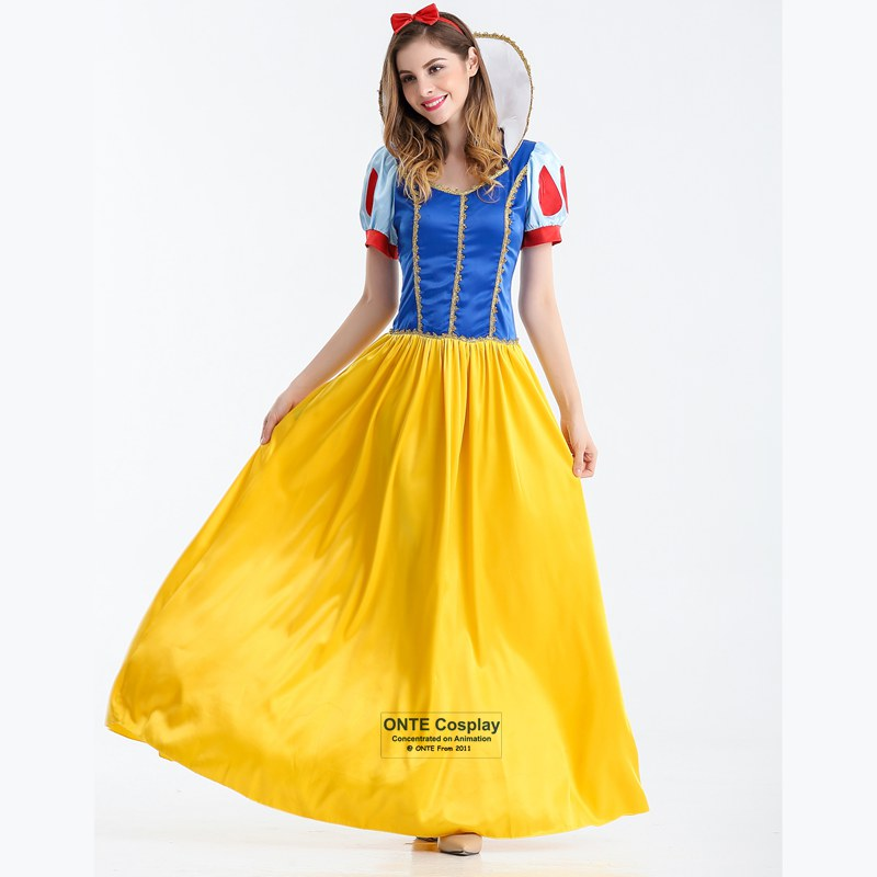 Adult Snow White Costumes Alice Sexy Cosplay Clothes Women Princess Fancy Party Long Dress for Halloween