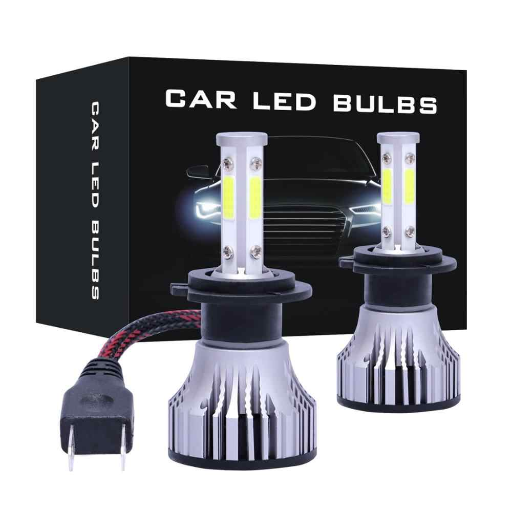 2Pcs LED Headlight Bulbs with 4 sides LED Chips H7 H1 H3 H4 H8 H9 H11 9005 9006 9007 H13 880 881 H27 Conversion Kit Car Headlamp