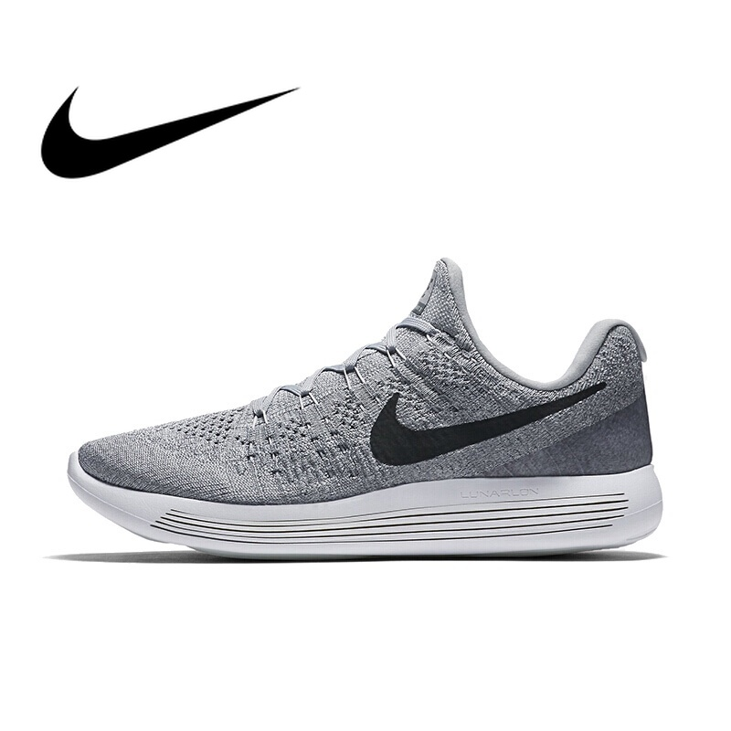 on sale 6a0fe 1c3fd Original NIKE LUNAREPIC LOW FLYKNIT 2 Men s Running Shoes Low-cut  Cushioning Breathable Durable lace-up Sports Sneakers 863779