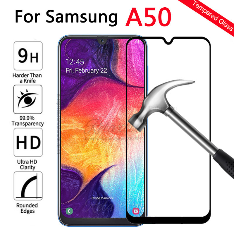 Full Cover Tempered <font><b>Glass</b></font> For <font><b>Samsung</b></font> Galaxy A50 A505F Protective Film <font><b>glass</b></font> on the For <font><b>Samsung</b></font> A50 <font><b>A</b></font> <font><b>50</b></font> SM-A505F Protection 9h image