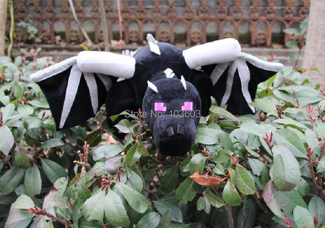 10pcs/lot My World Minecraft Huge Big Size 60cm Ender Dragon Black Boss Enderdragon Plush Toys Cartoon Stuffed Animals Kids Gift