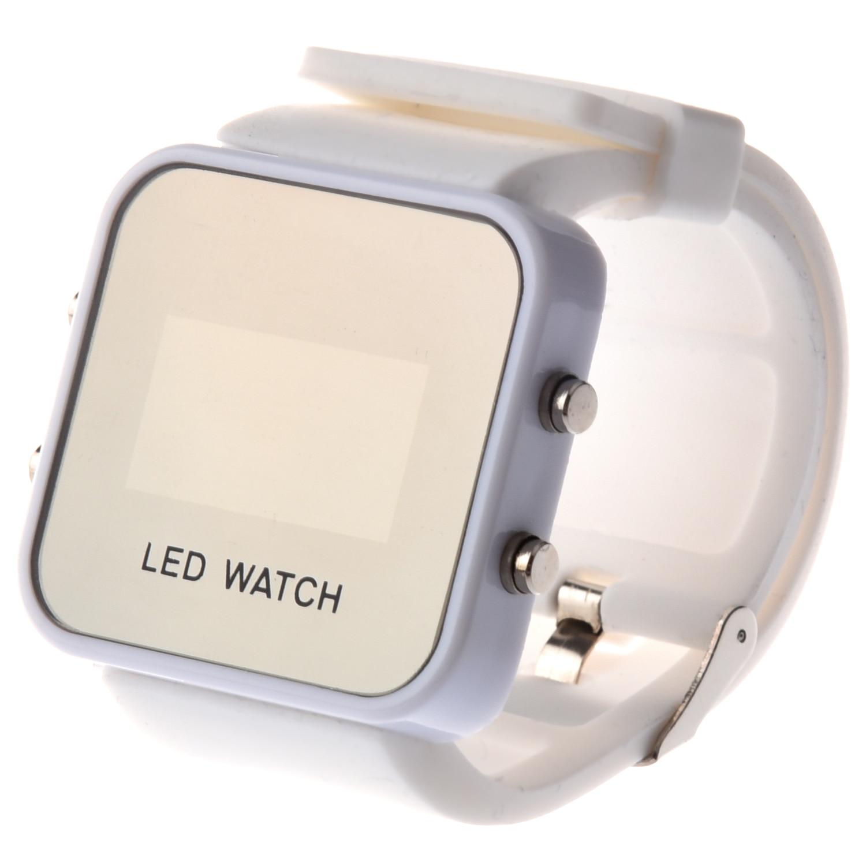 ̀ •Ì Espejo LED Digital hombres dama deporte reloj uni jalea del