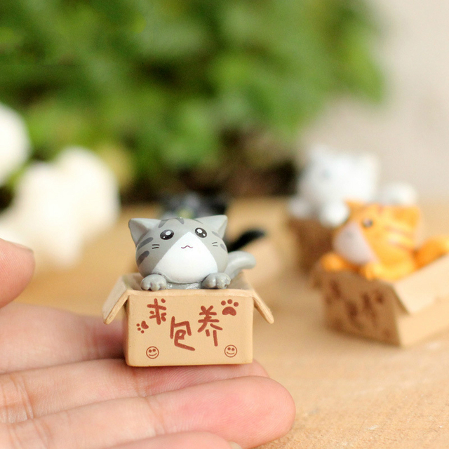 Lovely Small Cat in Box Doll 4 pcs Set