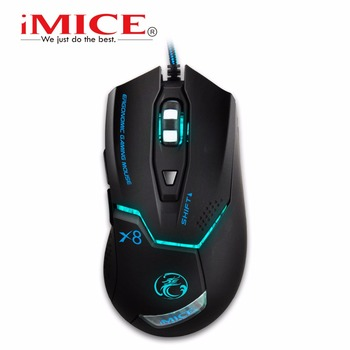 2016 IMICE X8 2400DPI LED Optical 6D USB Wired game Gaming Mouse gamer For PC computer Laptop perfect upgrade combine x7 x9 เมาส์