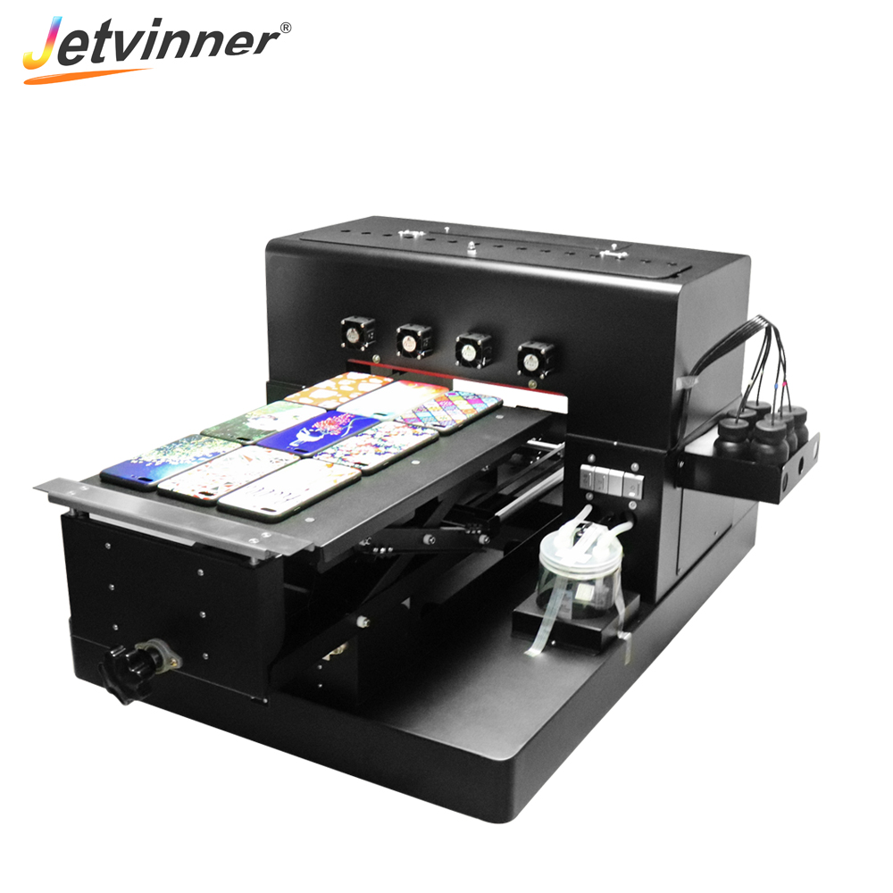 Jetvinner A3 UV Inkjet Printer LED UV Printing Machine for Customize Phone Case Wood Metal Phone