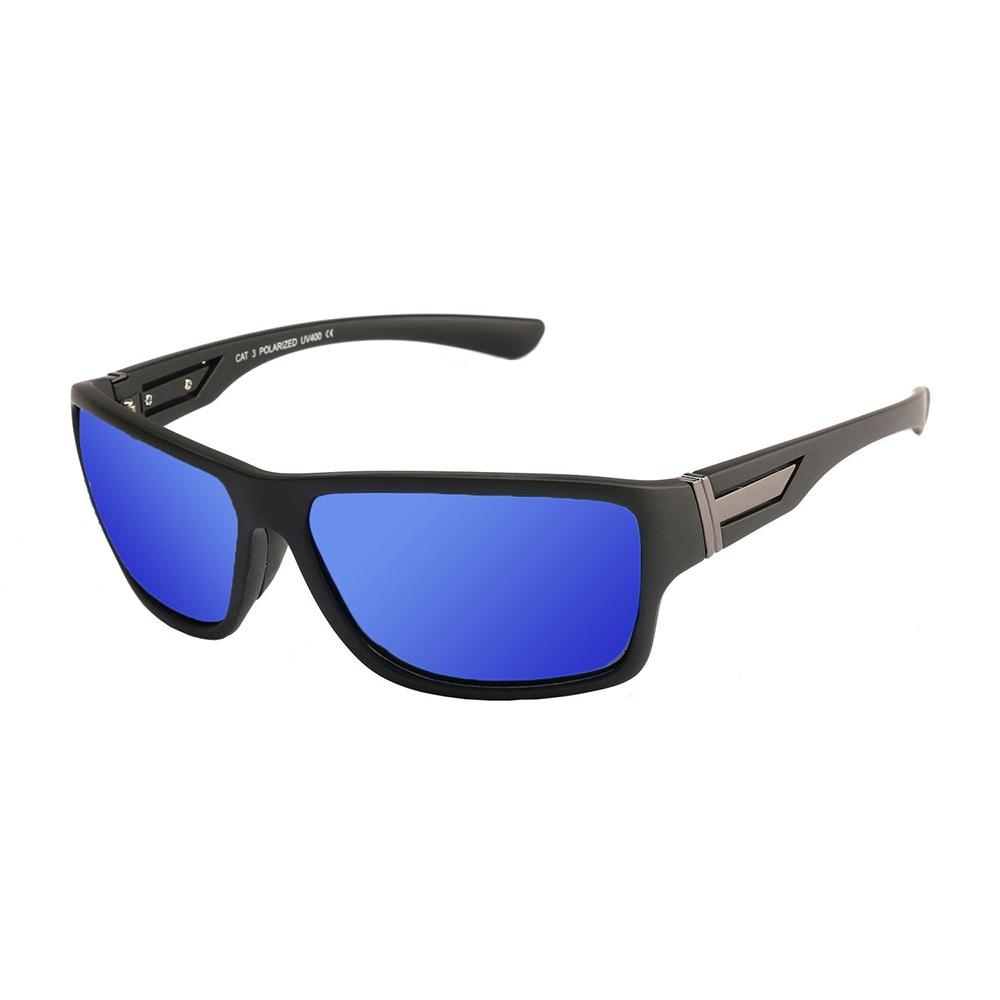 Hommes et femmes lunettes de soleil polarisées sports de plein air lunettes anti-UV vélo équitation lunettes coupe-vent pour l'escalade et la pêche au ski , red and black