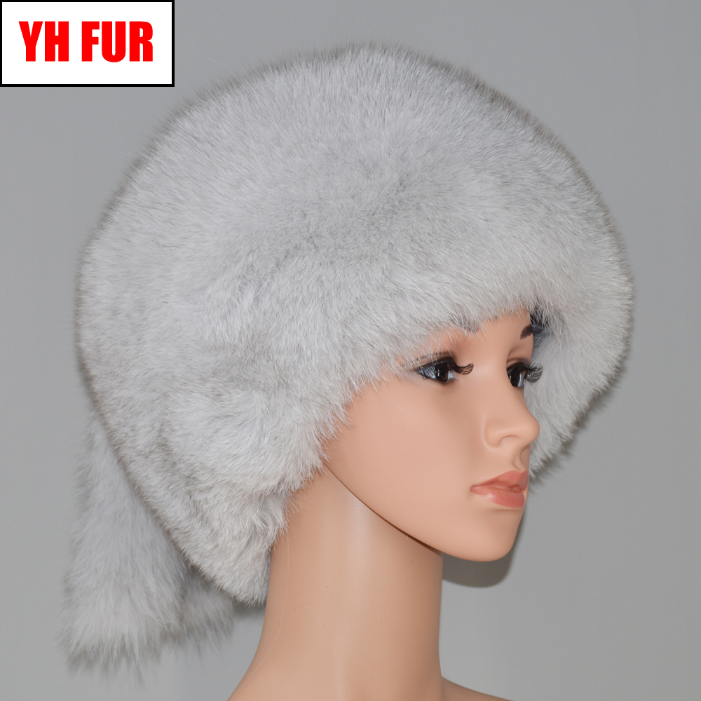 5effb829 new luxury winter Russian real fox fur hat women lovely warm soft good  quality 100%