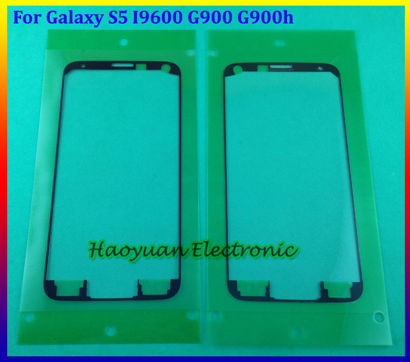 Цена за 20 шт./лот оригинальный корпус стикер передняя рама передней панели клей для samsung galaxy s5 sv i9600 g900 g900h дигитайзер рамка клей