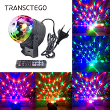 2 in 1 Night Light RGB Disco Ball Strobe Lamp Projector Stage Crystal Remote For Holiday Xmas Home Bar DJ Party