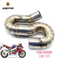 ZSDTRP Motorcycle Modified Escape Exhaust Pipe CBR1000RR Middle Pipe 2016 2017 Stainless Steel Exhaust CBR1000RR Exhaust