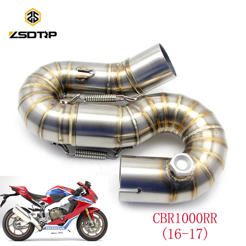 ZSDTRP Motorcycle Modified Escape Exhaust Pipe CBR1000RR Middle Pipe 2016-2017 Stainless Steel Exhaust CBR1000RR Exhaust