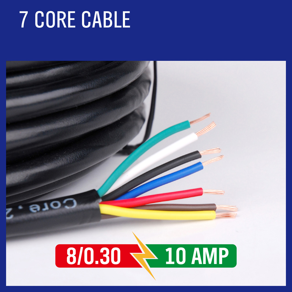 small resolution of sedy 10m 7 core trailer wiring cable plug core tool cable 2 5mm train wire caravan plug socket wiring narva wire type tool cable in tool parts from tools on