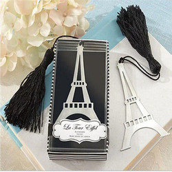 1PC Hot Eiffel Tower Alloy Bookmark Creative Exquisite Tassel Box Students Stationery School Supplies For Gift