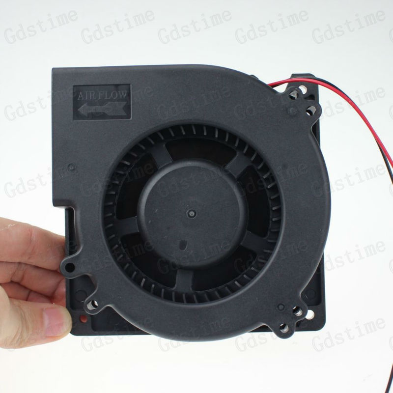 2pcs Gdstime DC 24V Big Airflow Brushless DC Blower Cooling Cooler Fan 120mm x 32mm 12032 Large Radiator 12cm gdstime 5pcs 12cm big fan 120mm x 32mm 120mm blower fan 12v ball bearing dc brushless cooling cooler 120x32mm 2 pin