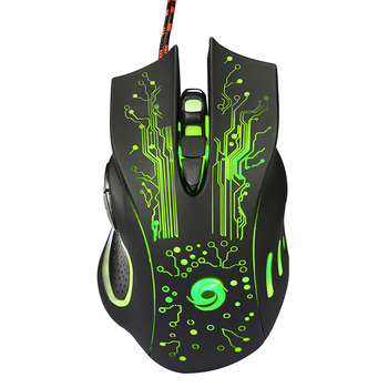 USB Wired Gaming Mouse 5500DPI Adjustable 7 Buttons LED Optical Professional Gamer Mouse Computer Mice for PC Laptop Games Mice 6