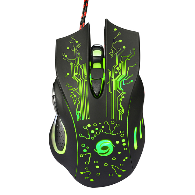 USB Wired Gaming Mouse 3200DPI 6, Buttons LED Optical