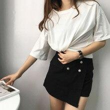 0dd588dbb5748 J pinno nueva camiseta blanco colores de algodón cómodo Tops cuello camisa  corta para las mujeres verano Casual camiseta