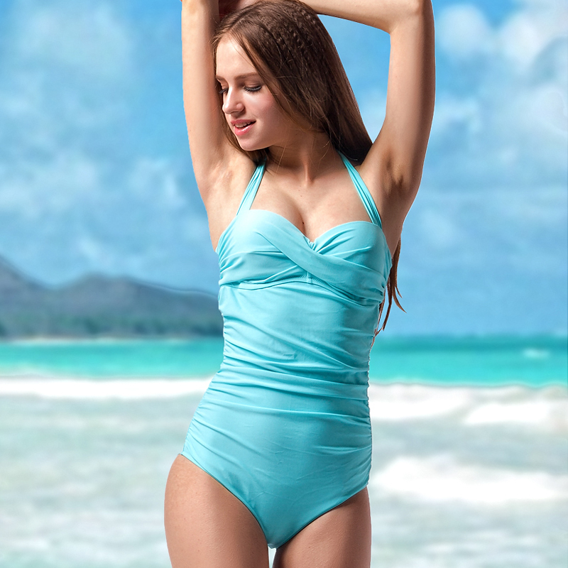 6590422872066 Ladies high quality one piece swimsuit