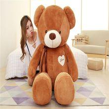 цена на Large Teddy Bear Stuffed Animals Toys Plush Doll 100cm Giant Stuffed Teddy Bear Plush Toy