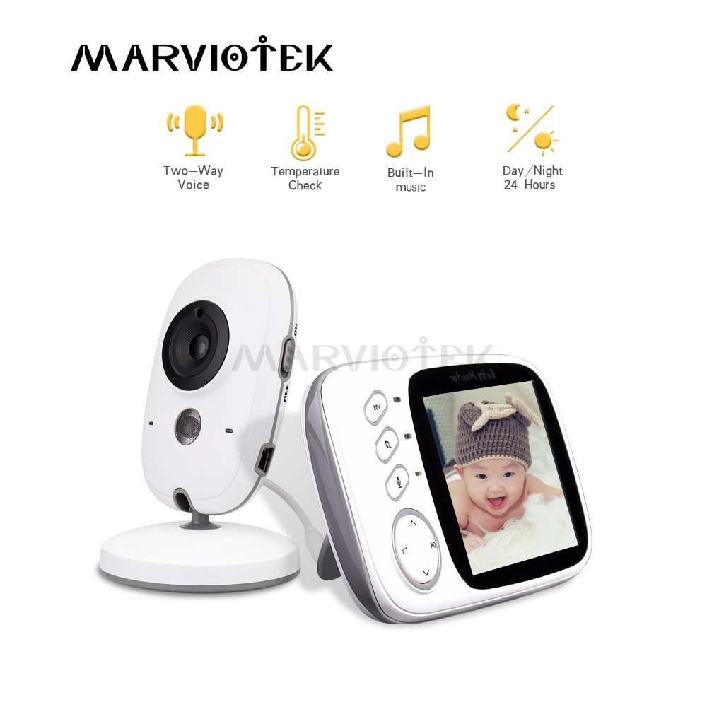 Baby Monitor wifi 3.2 inch LCD Night Vision 2 way Talk 8 Lullabies Temperature monitor video nanny radio babysitter baby camera-in Baby Monitors from Security & Protection
