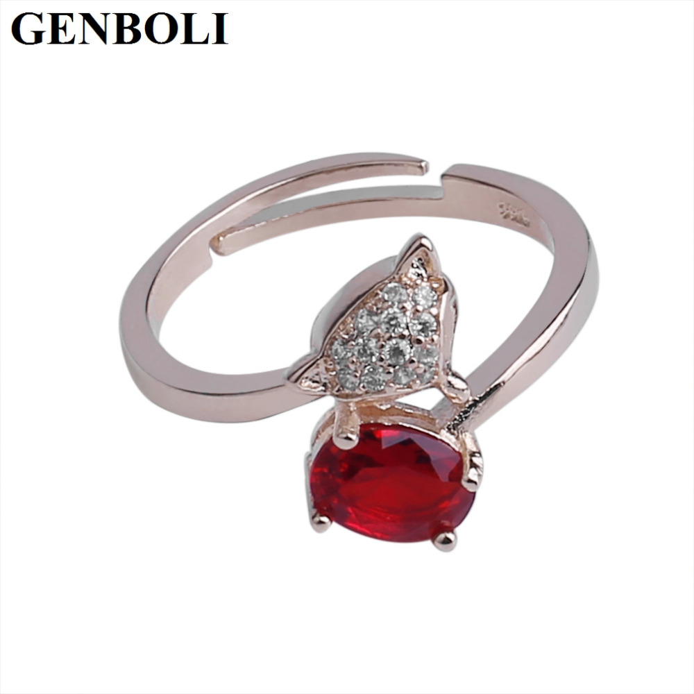 Genboli Unique Design Women Korean Style Ring Round Shape Simple Design For  Lady Female Wedding Engagement Ring Jewelry