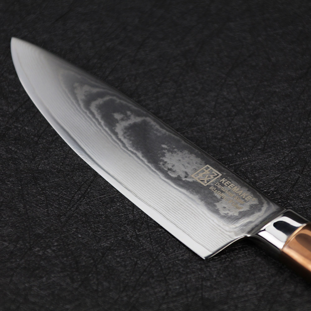 titanium kitchen knives long narrow island sunnecko 8 inch chef knife japanese vg10 steel sharp blade stainless handle with gold damascus tool in from home