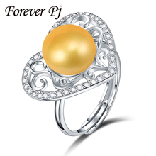 FOREVER Superb 10-10.5mm actual pearl ring for girls marriage ceremony white 925 silver jewellery sizzling promoting 925 sterling silver ring CPR047