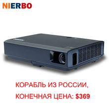 NIERBO DLP Android Projector 3D 1080P Wireless Portable Projector 3500 Lumens for Home Cinema Outside Use HDMI VGA USB Port