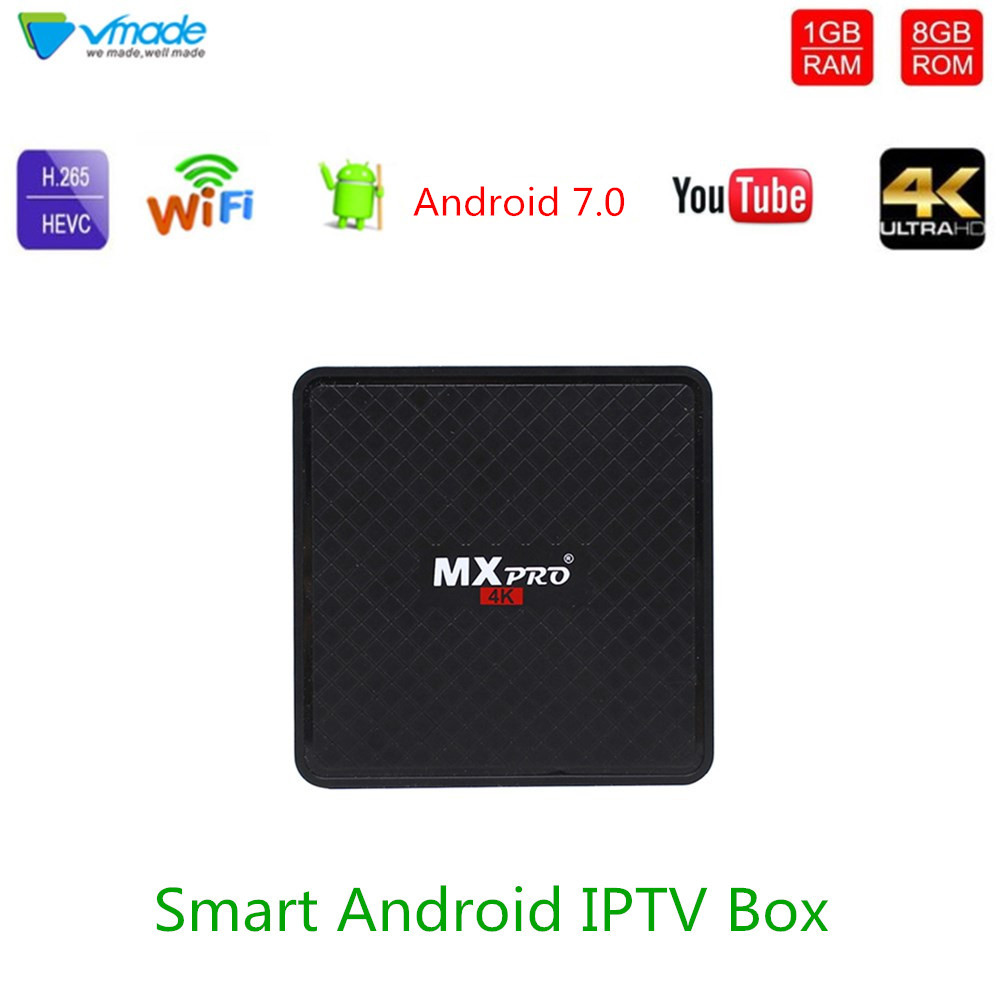 Vmade V96S UHD 4k Smart TV Box Android 7.0 OS 1gb 8gb Allwinner H3 Quad Core Support H.265 1.0ghz WiFi Netflix Media Player-in Set-top Boxes from Consumer Electronics