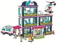 Lepin 01039 Friends Girl Series Heartlake Hospital Building Blocks Kids Educational Bricks Toys Girl Gifts Compatible
