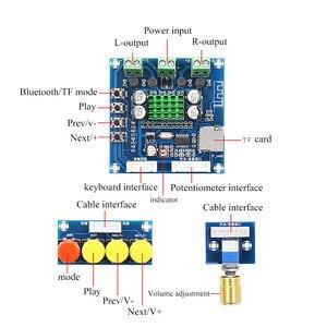 Image 4 - XH A231 TF Bluetooth Digitale Versterker 15 W + 15 W stero audio versterker Met volumeregeling DC 12 24 V