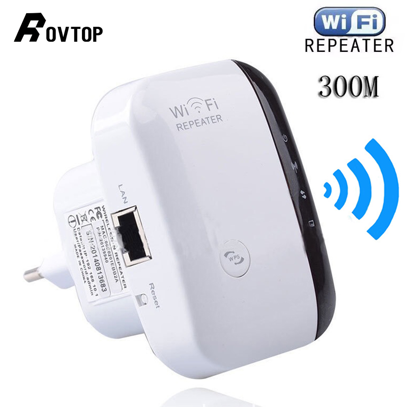 Rovtop Wireless WiFi Repeater Wifi Extender 300Mbps Wi-Fi Amplifier 802.11N/B/G Booster Repetidor Wi Fi Reapeter Access Point(China)