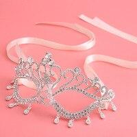 גביש יהלומים מלאכותיים מלא יוקרה כדור נשף מסכות ונציאניים מסכת עבור אביזרי חתונה מסיבת כלה נשים