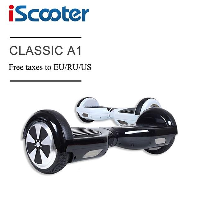 IScooter бесплатная доставка hoverboard 6.5 дюймов 2 Колеса самостоятельного Баланса скутер mart рулевого колеса Скейтборд имеют UL2722 geroskuter