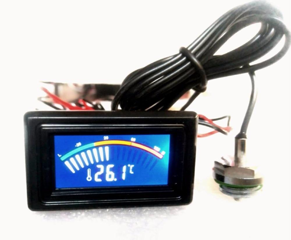Fishlor Temperature Detector PC Computer Water Cooling Temperature Detector Digital//Dial Thermometer LCD Screen Frame Kit