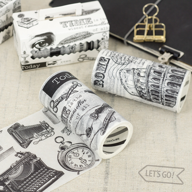 Creative Washi Wide Tape Hand-festival Holiday Diary Calendar DIY Decorative Stickers Artsy Paper Tape 9cm*5m Random Delivery 9cmx5m creative life edition washi paper tape 9cm delicacy small objects decorative tape